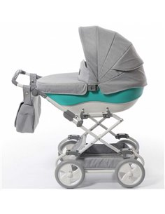 Детская коляска 2 в 1 BabyZz B102 темно серая