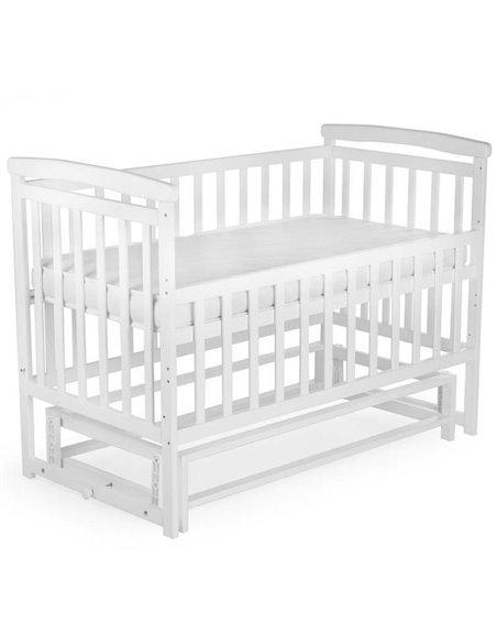 Кроватка Детский Сон с маятником белая