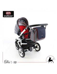 Детская коляска 2 в 1 Riko Ozon Shine 02 Silver