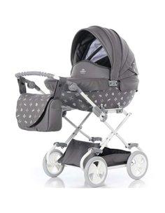 Детская коляска 2 в 1 Roan Bloom Classic grey pearl