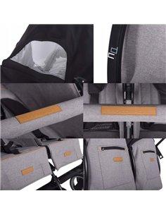 Детская коляска 3 в 1 Broco Avenue 08 Grey-Mint