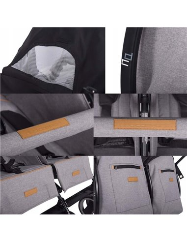 Дитяча коляска 3 в 1 Broco Avenue 08 Grey-Mint