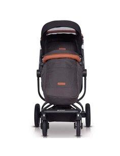 Дитяча коляска 2 в 1 ibebe i-stop чорна хром