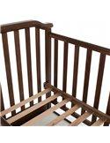 Детская кроватка Верес Соня ЛД12 с продольным маятником и ящиком слоновая кость