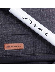 Конверт для санок Twins Silver з рукавичками сірий