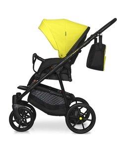 Детская коляска 2 в 1 Angelina Amadeo A-5 серо-голубая