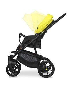 Детская коляска 2 в 1 Angelina Amadeo A-6 бело-серая