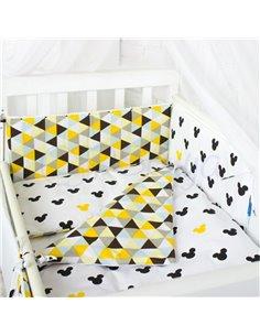 Двоярусне ліжко Art In Head Binky ДС702 Біле (ЛДСП), біла решітка