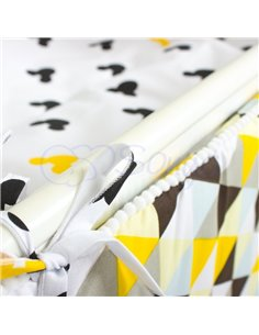 Двухъярусная кровать Art In Head Binky ДС702 Белая (ЛДСП), натур. решетка