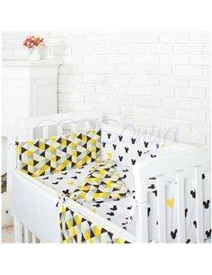 Двоярусне ліжко Art In Head Binky ДС702 Біло-голубе (ЛДСП), біла решітка