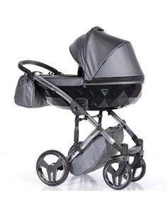 Детская коляска 2 в 1 Bair Polo Silver Eco 27S белая