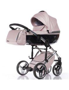 Детская коляска 2 в 1 Bair Polo Silver Eco 30S розовая