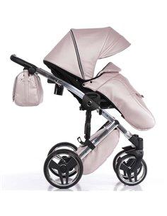 Детская коляска 2 в 1 Bair Polo Silver Eco 31S стальная