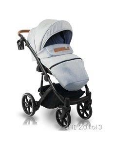 Детская коляска 2 в 1 Bair Polo Silver Eco 34S бордовая