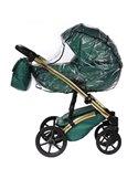 Детская коляска 2 в 1 Bair Star Silver Eco 38S синяя