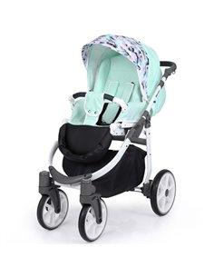 Дитяча змінна постіль Twins Premium Glamour Limited PGNEWZ-14 Bunnies&Moon mint