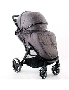 Дитяча коляска 2 в 1 Bebetto Luca 02 темно-синя, чорна рама