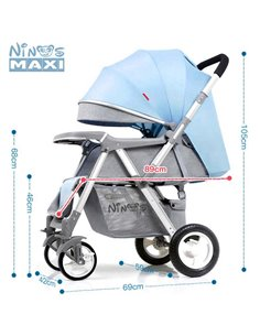 Дитяча коляска 2 в 1 Ninos A88 Grey