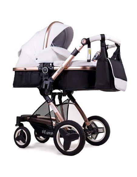 Дитяча коляска трансформер Ninos Bono white eco