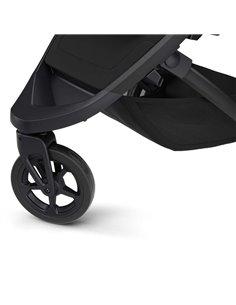 Детская прогулочная коляска BubaGo Model One Plus с переноской Black-Dark Grey