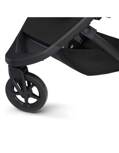Дитяча прогулянкова коляска BubaGo Model One Plus з переноскою Black-Dark Grey