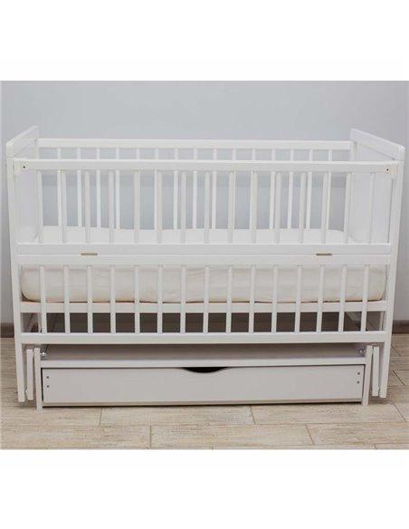 Детская кроватка Дубик-М Мишка белая