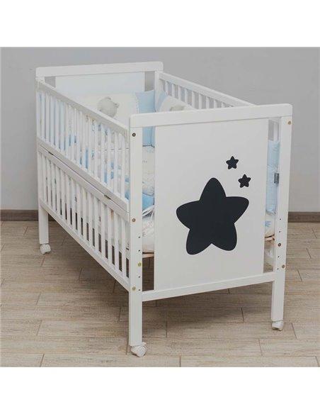 Детская кроватка Дубик-М Звездочка белая