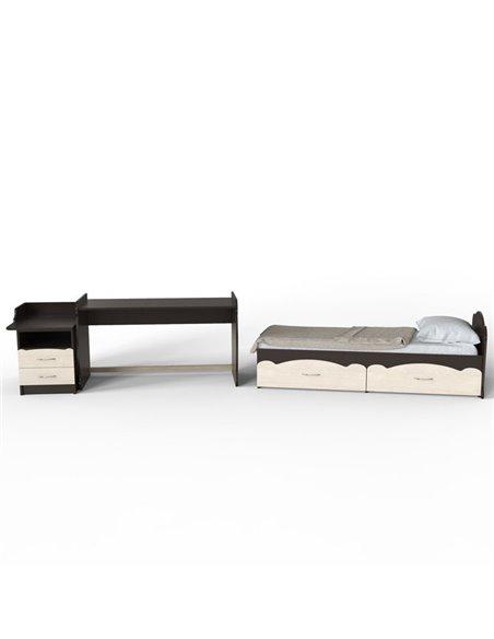 Кроватка-трансформер Art In Head Binky ДС043 Венге и Шамони св., решетка венге