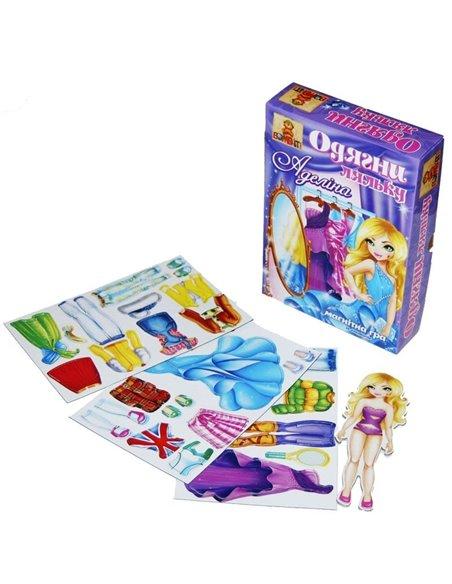 Магнітна гра Одягни ляльку Аделіна