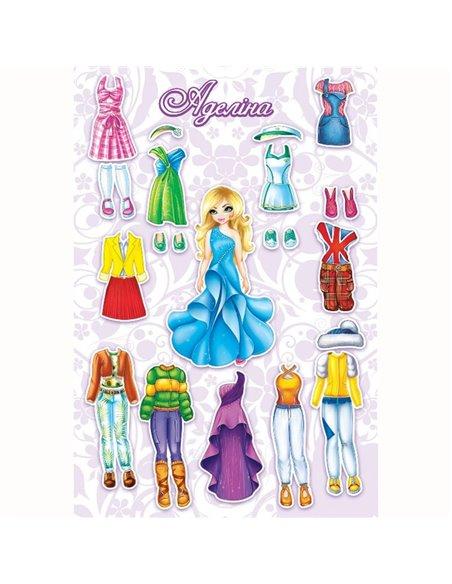 Магнитная игра Одень куклу Аделина
