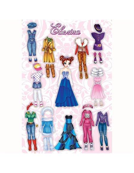 Магнітна гра Одягни ляльку Евеліна