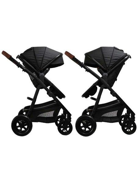 Дитяча коляска 3 в 1 BubaGo Voyage black