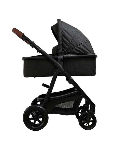 Дитяча коляска 3 в 1 BubaGo Voyage light grey