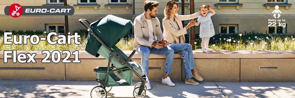 Детская прогулочная коляска Euro-Cart Flex 2021