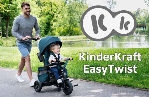Детский трехколесный велосипед Kinderkraft Easytwist